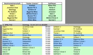 u-8 Spielplan